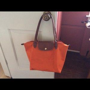 Longchamp Medium LePilage tote Orange